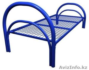 Кровати одноярусные металлические, кровати металлические двухъярусные. оптом - Изображение #1, Объявление #1428554